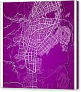 Cali Street Map - Cali Colombia Road Map Art On Colored Back Canvas Print