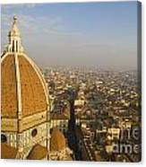 Brunelleschi's Dome At The Florence Cathedral  Canvas Print