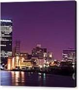 City Lights Skyline Canvas Print