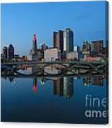 Fx2l-508 Columbus Ohio Skyline Photo Canvas Print