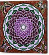 Cosmic Flower Mandala 6 Canvas Print
