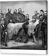 Death Of Lincoln, 1865 Canvas Print