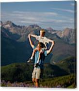 Family Hiking Canvas Print