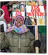 Flint Drinking Water Protest Canvas Print