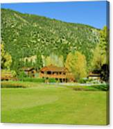9-hole Golf Course In Autumn At Pine Canvas Print