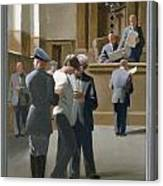 9. Jesus Before The Magistrate / From The Passion Of Christ - A Gay Vision Canvas Print