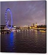 London Skyline Sunset Canvas Print