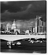 London  Skyline Waterloo  Bridge  Canvas Print