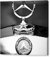 Mercedes-benz Hood Ornament Canvas Print