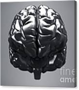 Metallic Brain Canvas Print
