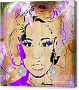 Nicki Minaj Diamond Earring Collection Canvas Print