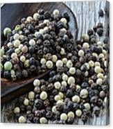 Peppercorn And Spoon Canvas Print