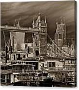River Thames Art Canvas Print