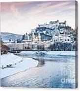 Salzburg In Winter Canvas Print