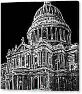 St Pauls Cathedral London Art Canvas Print