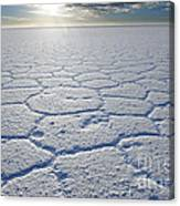 sunrise at Salar de Uyuni worlds largest salt lake Bolivia Canvas Print
