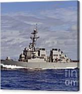 The Guided-missile Destroyer Uss Canvas Print