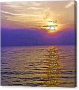 View Of Sunset Through Clouds Canvas Print