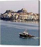 Views From Corfu Greece Canvas Print
