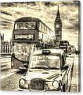 Westminster Bridge London Canvas Print
