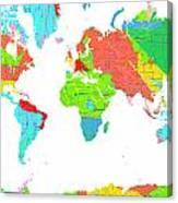 World Map Canvas Print
