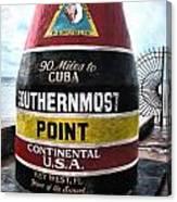 90 Miles To Cuba Canvas Print