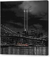 911 Tribute Lights Canvas Print