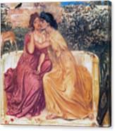 Sappho And Erinna In A Garden Canvas Print