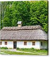 A Typical Ukrainian Antique House Canvas Print