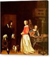 The Suitors Visit Canvas Print