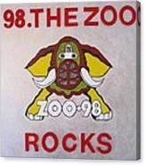 98.the Zoo Rocks Canvas Print