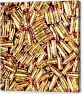 9mm Brass Ammo Canvas Print