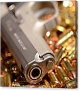 9mm Sw With Brass Canvas Print