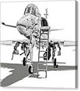 Ta-4j Skyhawk Canvas Print