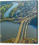 Fort Mcmurray From The Sky Canvas Print