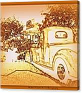 A And W Drive In Canvas Print