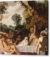 A Bacchanalian Feast, C.1617 Canvas Print