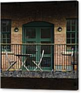 A Balcony On The River Aire Canvas Print