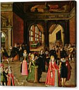 A Ball During The Reign Of Henri Iv Oil On Panel Canvas Print