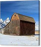 A Barn With A View Canvas Print