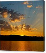 A Bay Sunset Canvas Print