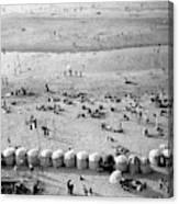 A Beach In Cherbourg Canvas Print
