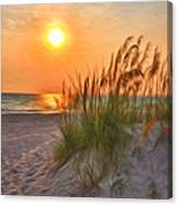 A Beach Sunset Canvas Print