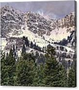 A Beautiful View Of Mount Ogden From Snowbasin 2/1 Pano Canvas Print