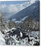 A Beautiful Winterday - Austrian Alps Canvas Print