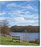 A Bench With A View Canvas Print