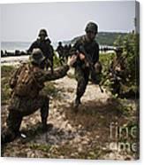 A Bilateral Boat Raid With U.s. Marines Canvas Print