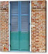 A Blue Door In New Orleans Canvas Print