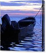A Boat In The Morning Canvas Print