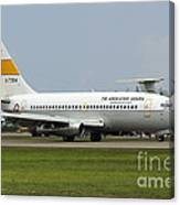 A Boeing 737-200 Of The Indonesian Air Canvas Print